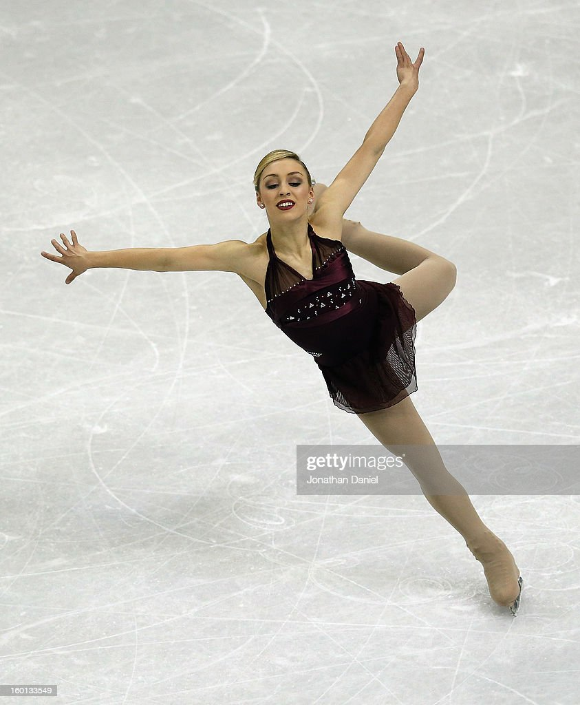Courtney Hicks competes in the Ladies Free Skate during the 2013 Prudential U.S. Figure Skating Championships at CenturyLink Center on January 26, 2013 in Omaha, Nebraska.