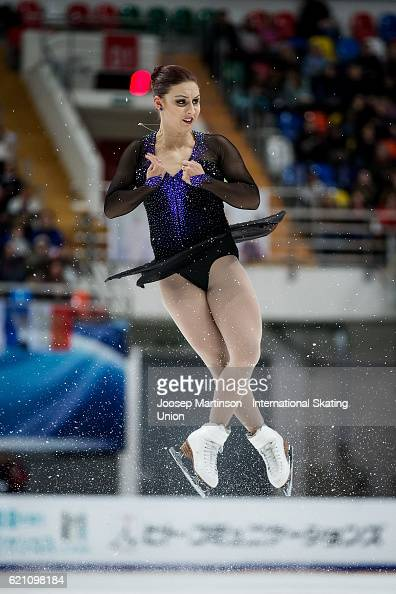 Courtney Hicks of the United States competes during Ladies Short Program on day one of the Rostelecom Cup ISU Grand Prix of Figure Skating at...
