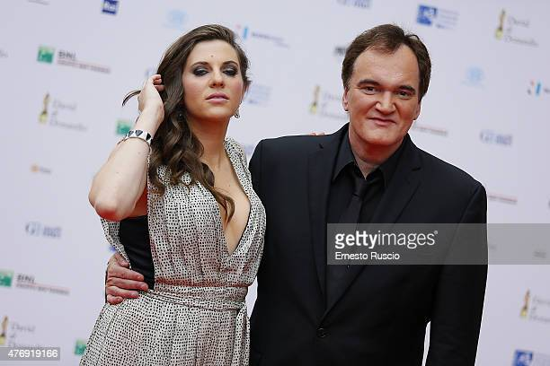 Courtney Hoffman and Quentin Tarantino attend the '2015 David Di Donatello' Awards Ceremony at Teatro Olimpico on June 12 2015 in Rome Italy