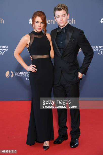 Courtney Hope and Chad Duell attend the 57th Monte Carlo TV Festival Closing Ceremony on June 20 2017 in MonteCarlo Monaco
