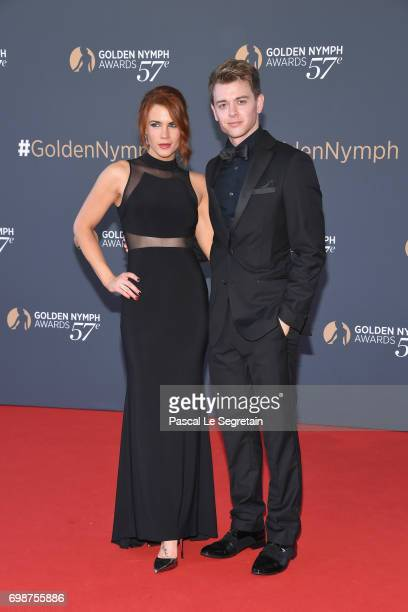 Courtney Hope and Chad Duell attend the closing ceremony of the 57th Monte Carlo TV Festival on June 20 2017 in MonteCarlo Monaco