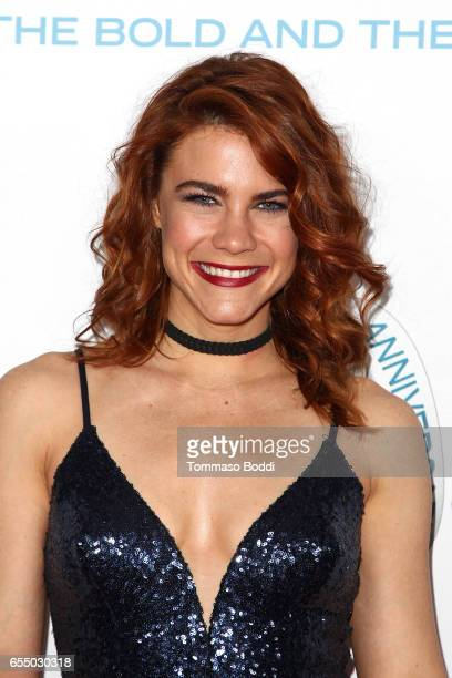 Courtney Hope attends the CBS's 'The Bold And The Beautiful' 30th Anniversary Party at Clifton's Cafeteria on March 18 2017 in Los Angeles California