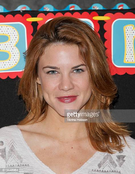 Courtney Hope attends the Read Across America event at Lindbergh Elementary School on March 2 2016 in Lynwood California