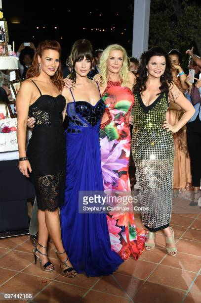 Courtney Hope Jacqueline MacInnes Wood Katherine Kelly Lang and Heather Tom attend the 'The Bold and The Beautiful' 30th Years Anniversary Party at...