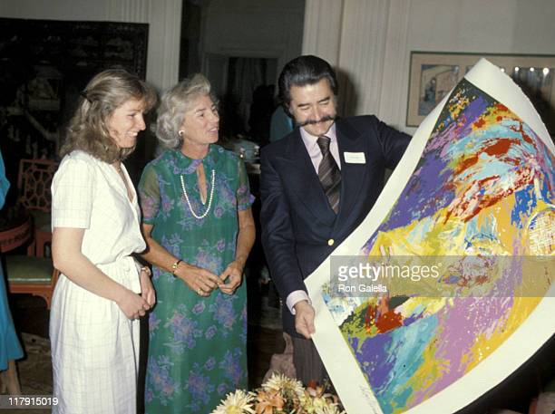 Courtney Kennedy Ethel Kennedy and Leroy Neiman during 8th Annual RFK ProCelebrity Tennis Tournament Cocktail Party at Home of Pat Lawford in New...