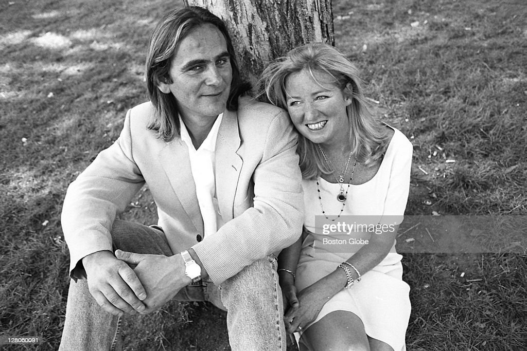 Courtney Kennedy with her husband, Paul Hill.