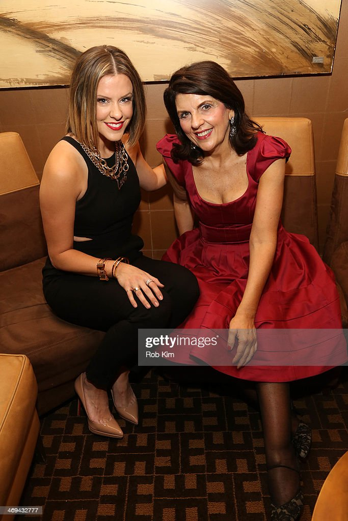 Courtney Kerr and Astrologer Susan Miller attend Empire Hotel Valentine's Day hosted by Susan Miller and Courtney Kerr at Empire Hotel on February 14...