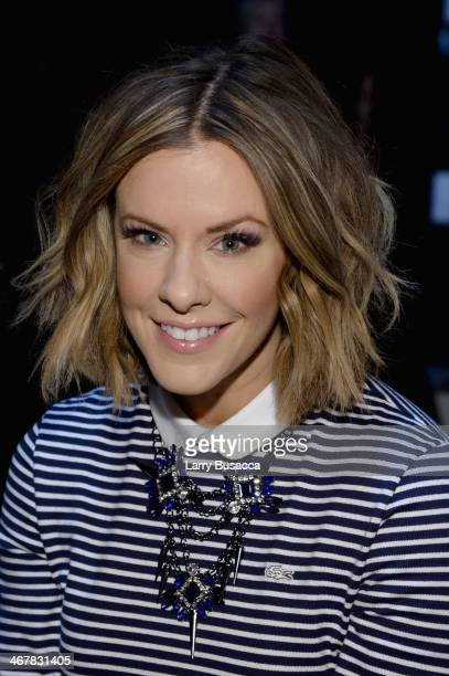 Courtney Kerr attends the Lacoste fashion show during MercedesBenz Fashion Week Fall 2014 at The Theatre at Lincoln Center on February 8 2014 in New...