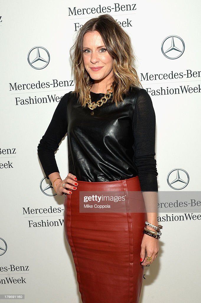 Courtney Kerr attends the Mercedes-Benz Star Lounge during Mercedes-Benz Fashion Week Spring 2014 at Lincoln Center on September 5, 2013 in New York City.