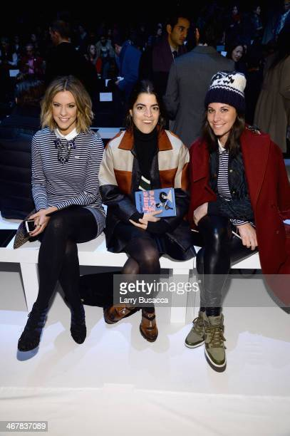 Courtney Kerr Leandra Medine and Erica Domesek attend the Lacoste fashion show during MercedesBenz Fashion Week Fall 2014 at The Theatre at Lincoln...