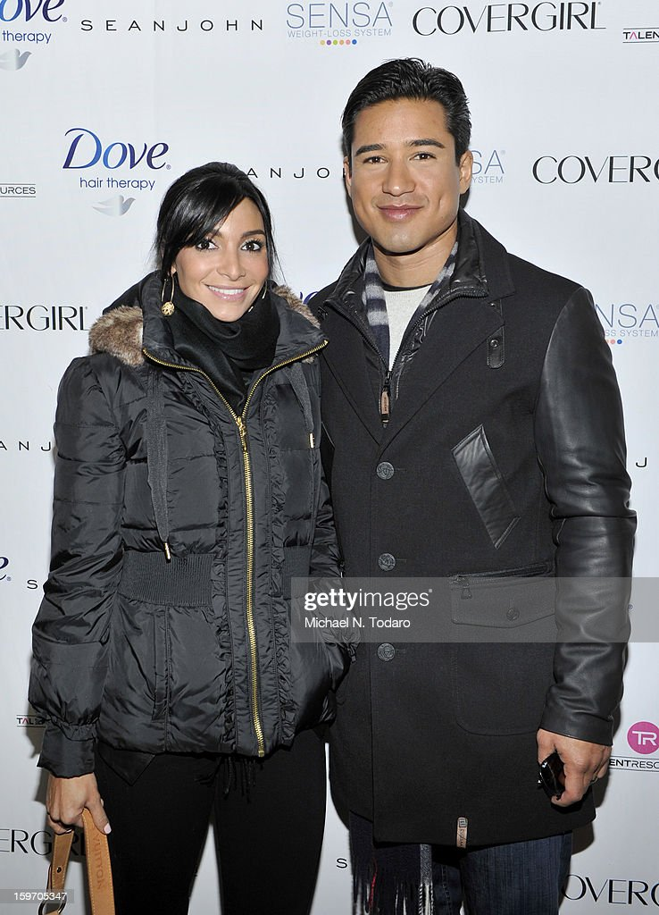 Courtney Laine Lopez and Mario Lopez attend the TR Suites Daytime Lounge - Day 1 on January 18, 2013 in Park City, Utah.