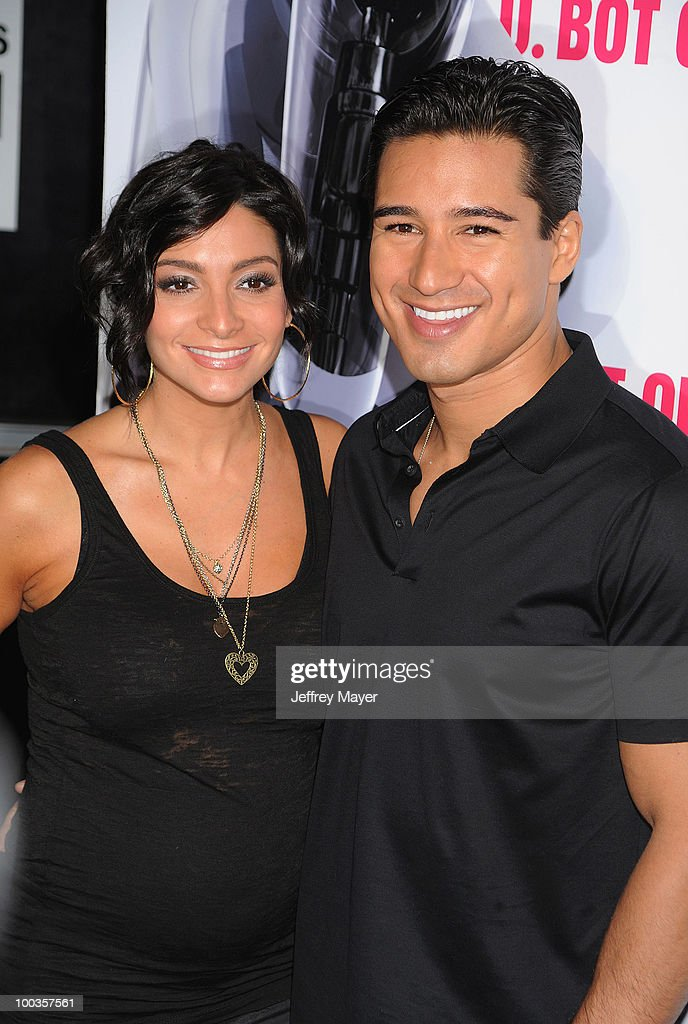 Courtney Laine Mazza and Mario Lopez arrive at the Svedka Vodka's 'R.U. Bot Or Not?' Battle Of The Bots party held at Wonderland on May 22, 2010 in Los Angeles, California.