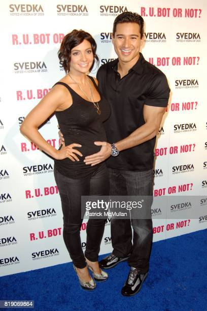 Courtney Laine Mazza and Mario Lopez attend KIM KARDASHIAN vs KOURTNEY KARDASHIAN at SVEDKA VODKA'S 'RU BOT OR NOT' BATTLE OF THE BOTS at Wonderland...