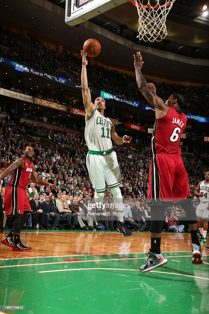 <a gi-track='captionPersonalityLinkClicked' href=/galleries/search?phrase=Courtney+Lee&family=editorial&specificpeople=730223 ng-click='$event.stopPropagation()'>Courtney Lee</a> #11 of the Boston Celtics goes up for the layup against the Miami Heat during a game on March 18, 2013 at TD Garden in Boston, Massachusetts.