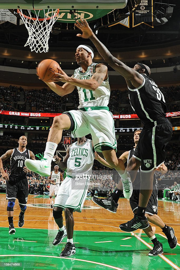 Courtney Lee #11 of the Boston Celtics shoots against the Brooklyn Nets on November 28, 2012 at the TD Garden in Boston, Massachusetts.