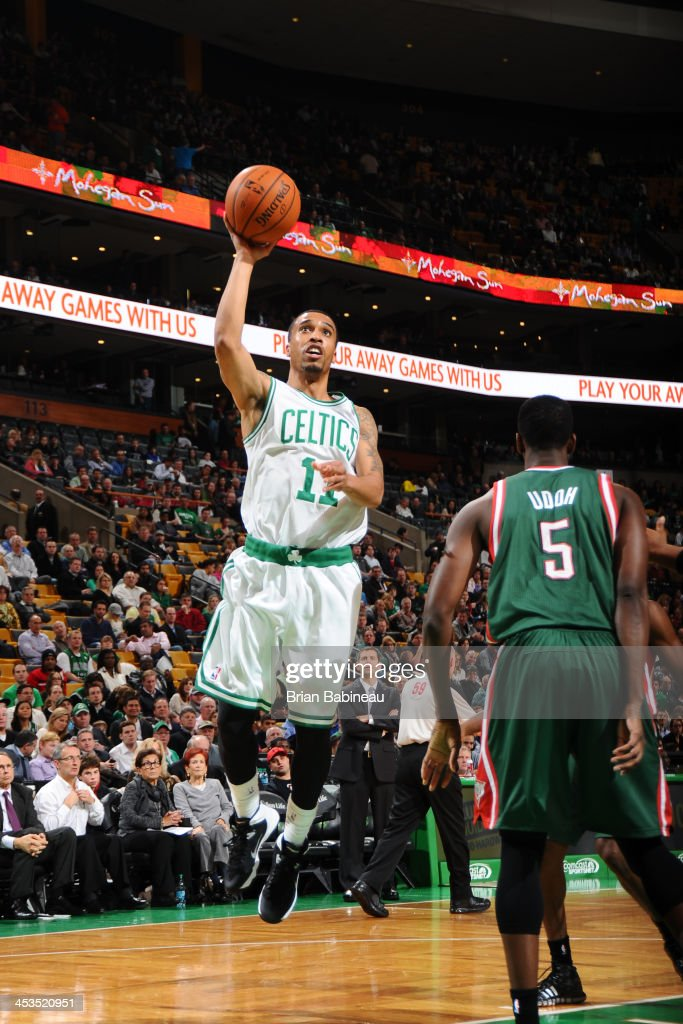 <a gi-track='captionPersonalityLinkClicked' href=/galleries/search?phrase=Courtney+Lee&family=editorial&specificpeople=730223 ng-click='$event.stopPropagation()'>Courtney Lee</a> #11 of the Boston Celtics shoots against the Milwaukee Bucks on December 3, 2013 at the TD Garden in Boston, Massachusetts.