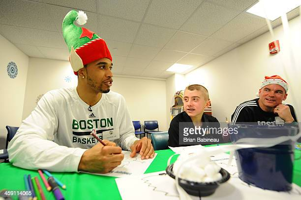 Courtney Lee of the Boston Celtics visits patients and spreads holiday cheer on December 19 2013 at Children's Hospital in Boston Massachusetts NOTE...