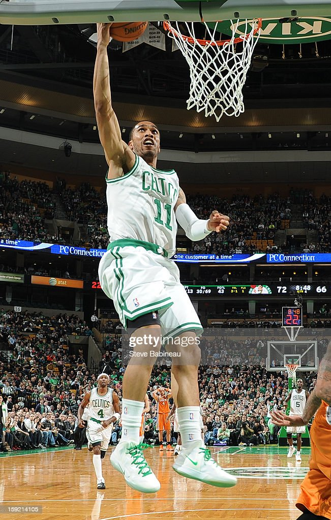 Courtney Lee #11 of the Boston Celticsdrives to the basket against the Phoenix Suns on January 9, 2013 at the TD Garden in Boston, Massachusetts.