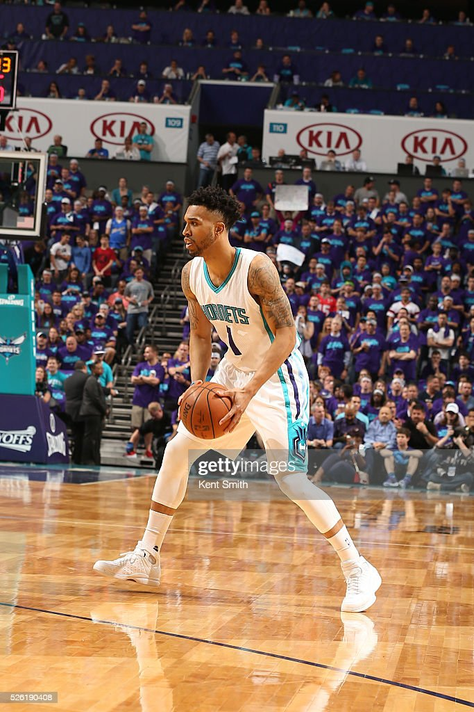 <a gi-track='captionPersonalityLinkClicked' href=/galleries/search?phrase=Courtney+Lee&family=editorial&specificpeople=730223 ng-click='$event.stopPropagation()'>Courtney Lee</a> #1 of the Charlotte Hornets handles the ball against the Miami Heat in Game Six of the Eastern Conference Quarterfinals during the 2016 NBA Playoffs on April 29, 2016 at Time Warner Cable Arena in Charlotte, North Carolina.
