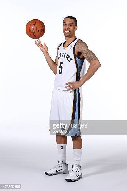 Courtney Lee of the Memphis Grizzlies poses for a portrait on February 25 2014 at FedExForum in Memphis Tennessee NOTE TO USER User expressly...