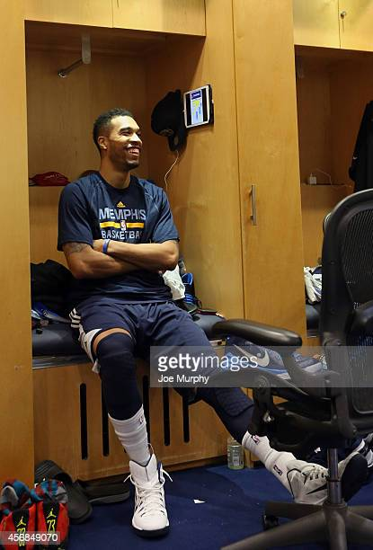 Courtney Lee of the Memphis Grizzlies prepares for Training Camp on October 6 2014 at FedExForum in Memphis Tennessee NOTE TO USER User expressly...