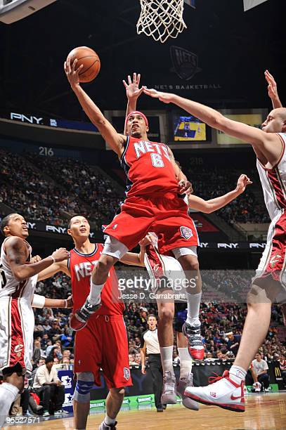 Courtney Lee of the New Jersey Nets shoots against the Cleveland Cavaliers during the game on January 2 2010 at the Izod Center in East Rutherford...