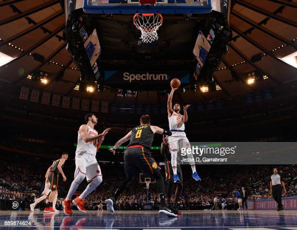 Courtney Lee of the New York Knicks shoots the ball against the Atlanta Hawks at Madison Square Garden on December 10 2017 in New York New York NOTE...