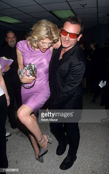 Courtney Love and Bono during 1997 VH1 Vogue Fashion Awards at Madison Square Garden in New York City New York United States