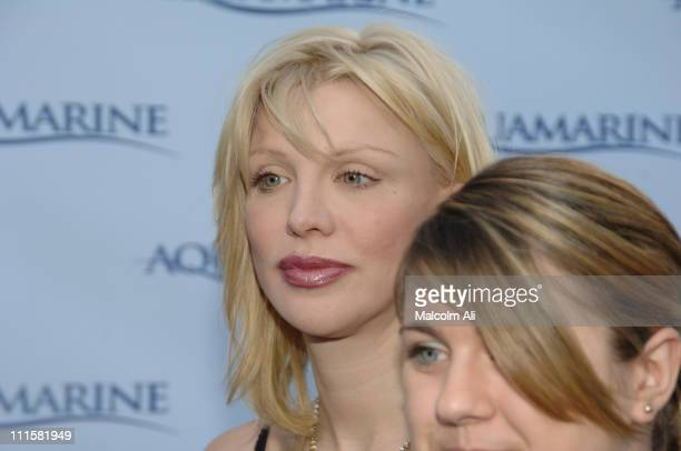 Courtney Love and daughter Frances Bean Cobain during Twentieth Century Premiere of 'Aquamarine' at Fox Studio Lot in Los Angeles California United...