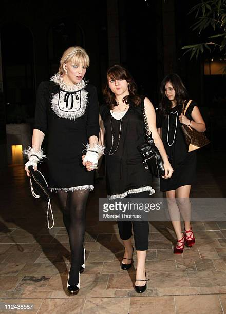 Courtney Love and Frances Bean Cobain during Paris Hilton 26th Birthday Dinner Outside Departures at Prime Grill Restaurant in Beverly Hills...