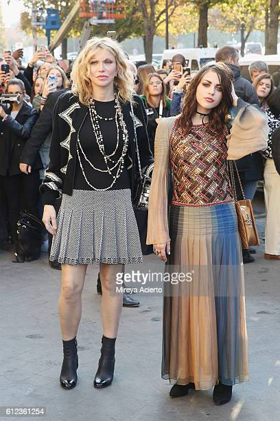 Courtney Love and Frances Cobain attend the Chanel show as part of the Paris Fashion Week Womenswear Spring/Summer 2017 on October 4 2016 in Paris...