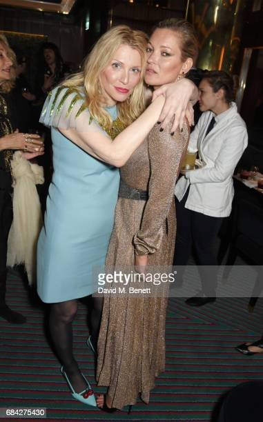 Courtney Love and Kate Moss attend a private dinner celebrating the launch of the KATE MOSS X ARA VARTANIAN collection at Isabel on May 17 2017 in...