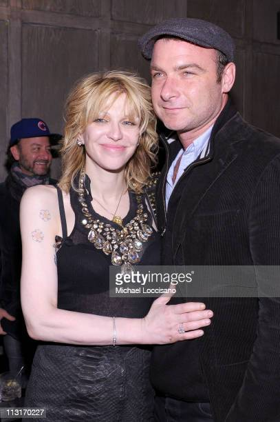 Courtney Love and Liev Schreiber attend the 2011 Tribeca Film Festival afterparty presented by American Express and The Cinema Society for 'Last...