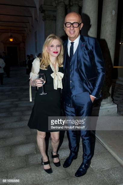 Courtney Love and Marco Bizzarri attend the Cini party during the 57th International Art Biennale on May 10 2017 in Venice Italy