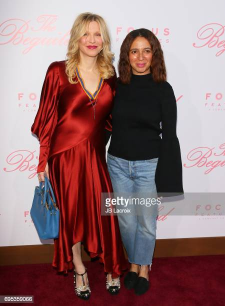 Courtney Love and Maya Rudolph attend the premiere of 'The Beguiled' on June 12 2017 in Los Angeles California