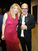 Courtney Love and Michael Stipe attend the 29th Annual Rock And Roll Hall Of Fame Induction Ceremony at Barclays Center of Brooklyn on April 10 2014...