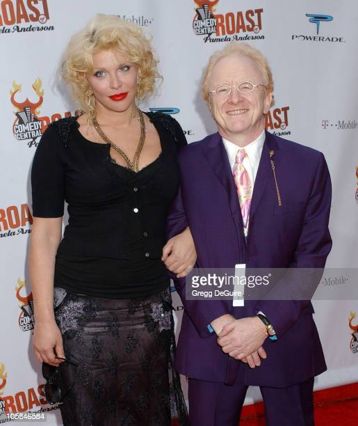 Courtney Love and Peter Asher during Comedy Central Roast of Pamela Anderson Arrivals at Sony Studios in Culver City California United States