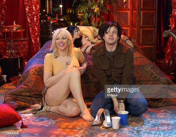 Courtney Love and Ryan Adams during Courtney Love on MTV2 '24 Hours of LOVE' at MTV Studios in New York City New York United States