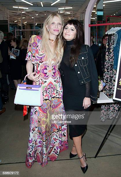 Courtney Love and Sophia Amoruso attend FORBES Magazine Celebrates Sophia Amoruso for 'Self Made Women' issue at Nasty Gal on June 8 2016 in Los...