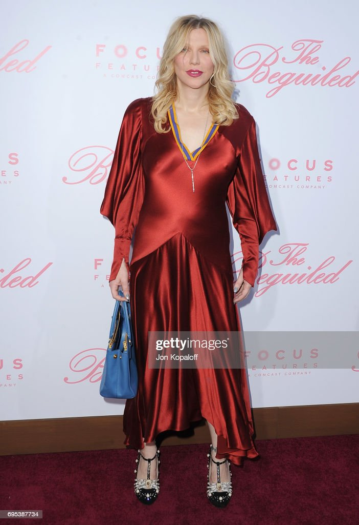 Courtney Love arrives at the U.S. Premiere Of 'The Beguiled' at Directors Guild Of America on June 12, 2017 in Los Angeles, California.