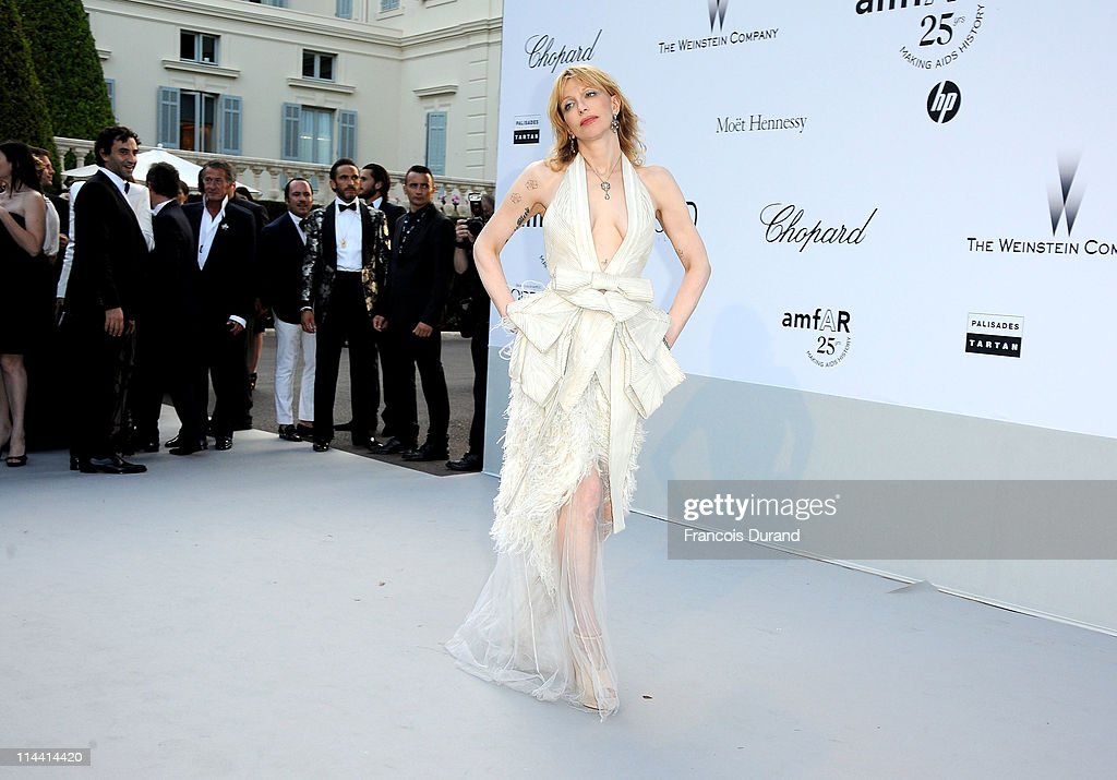 Courtney Love attends amfAR's Cinema Against AIDS Gala during the 64th Annual Cannes Film Festival at Hotel Du Cap on May 19, 2011 in Antibes, France.
