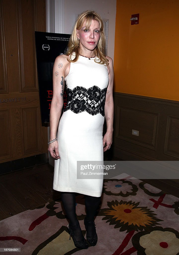 Courtney Love attends 'Beware Of Mr Baker' New York Screening at Crosby Street Hotel on November 27 2012 in New York City