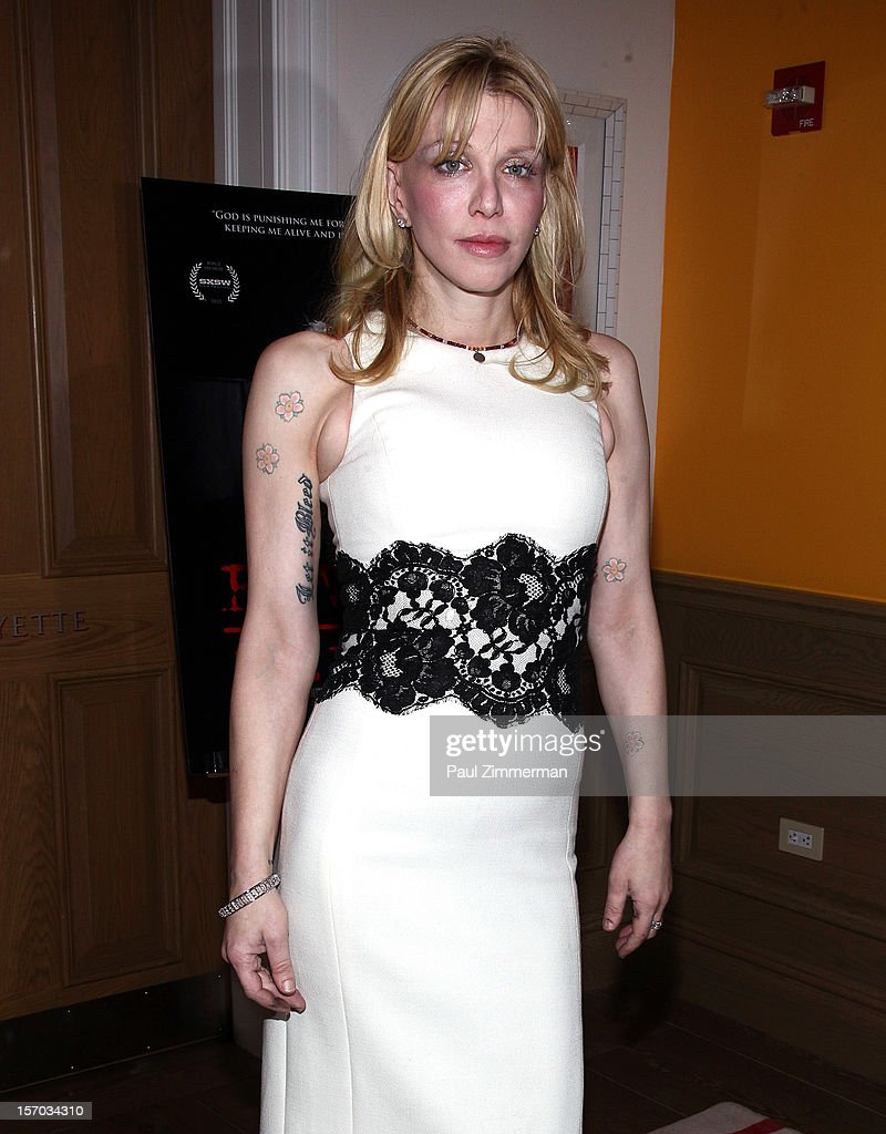 Courtney Love attends 'Beware Of Mr. Baker' New York Screening at Crosby Street Hotel on November 27, 2012 in New York City.