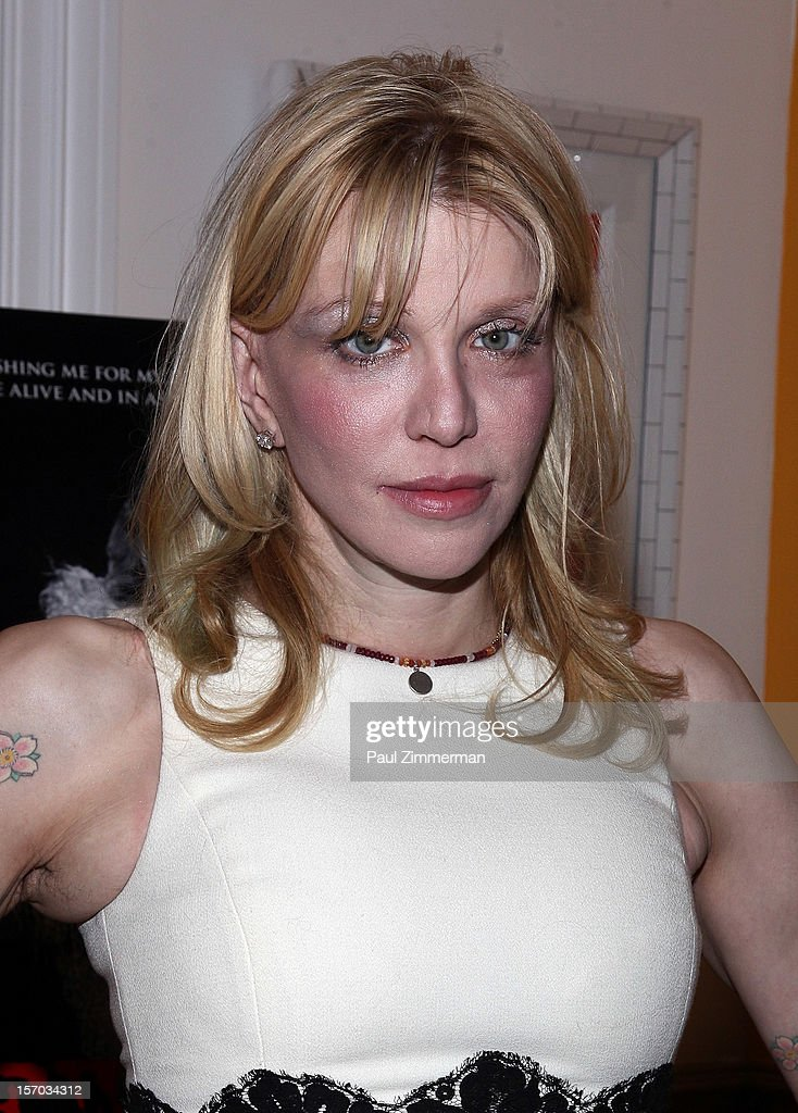 Courtney Love attends 'Beware Of Mr. Baker' New York Screening at Crosby Street Hotel on November 27, 2012 in New York City.