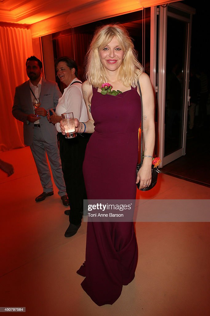 Courtney Love attends Clear Channel Media And Entertainment And MediaLink Dinner at Hotel du Cap-Eden-Roc on June 17, 2014 in Cap d'Antibes, France.