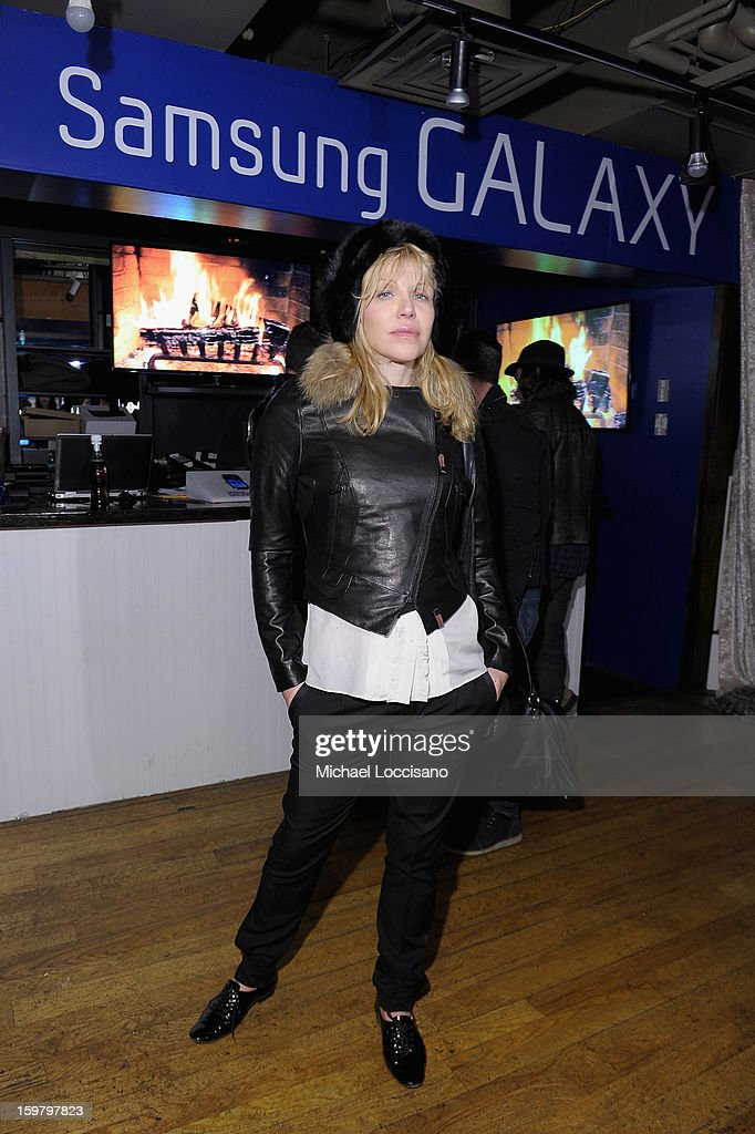Courtney Love attends Day 3 of Samsung Galaxy Lounge at Village At The Lift 2013 on January 20, 2013 in Park City, Utah.
