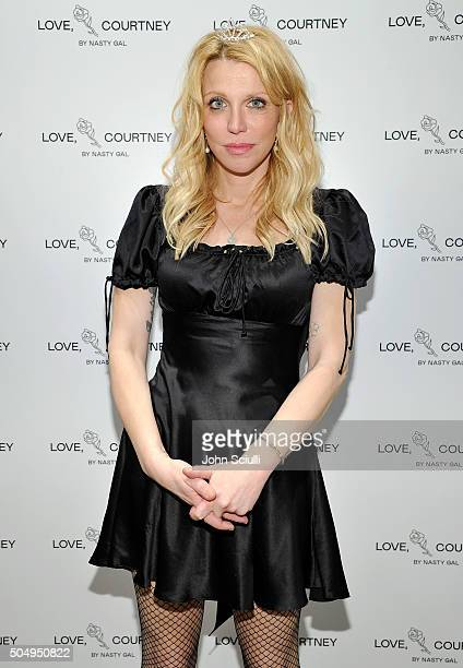 Courtney Love attends Love Courtney by Nasty Gal launch party at Nasty Gal on January 13 2016 in Los Angeles California