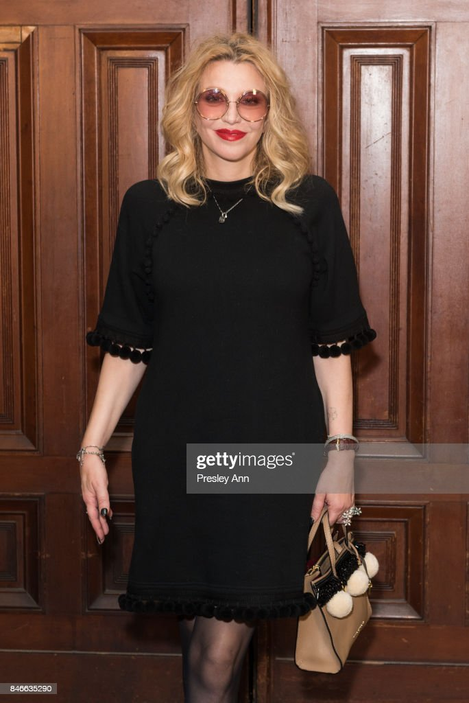 Courtney Love attends Marc Jacobs Spring 2018 Show - Red Carpet at Park Avenue Armory on September 13, 2017 in New York City.