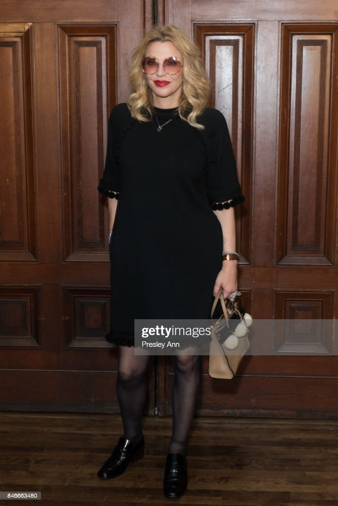 Courtney Love attends Marc Jacobs Spring 2018 show red carpet at Park Avenue Armory on September 13, 2017 in New York City.