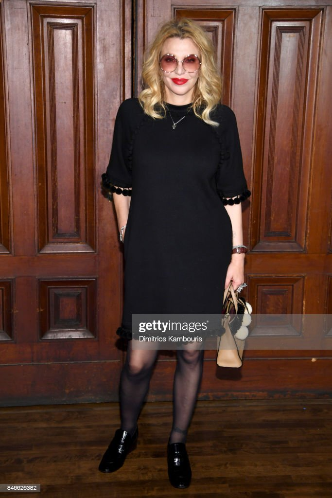 Courtney Love attends Marc Jacobs SS18 fashion show during New York Fashion Week at Park Avenue Armory on September 13, 2017 in New York City.